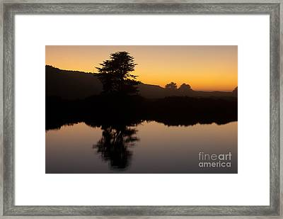 Dusk On Russian River 1.7059 Framed Print by Stephen Parker