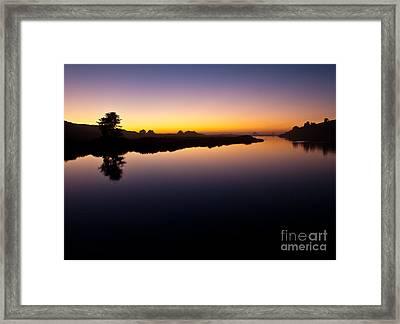 Dusk On Russian River 2.2751 Framed Print by Stephen Parker