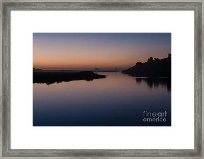 Dusk On Russian River  2.2753 Framed Print by Stephen Parker