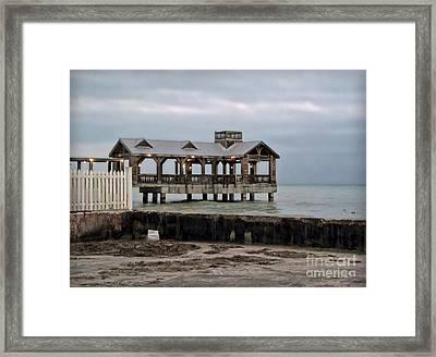 Dusk On South Beach Key West Framed Print by Joan  Minchak