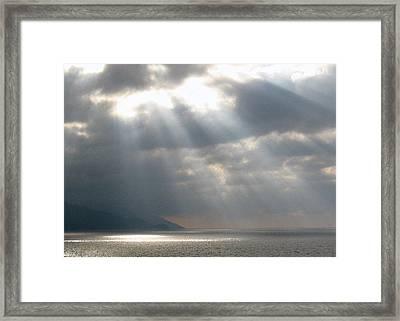 Dusk On The Bay Of Banderas  Framed Print by Studio Tolere