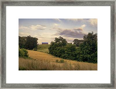 Dusk On The Farm Framed Print by Heather Applegate