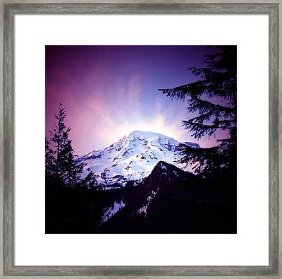 Dusk On The Mountain Framed Print