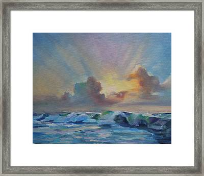 Dusk On The Outer Banks Framed Print