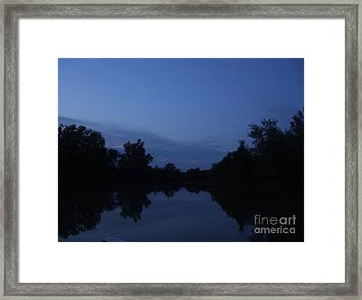 Dusk On The River Framed Print by Deborah DeLaBarre