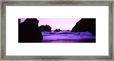 Dusk On The Santa Cruz Coastline Framed Print by Panoramic Images