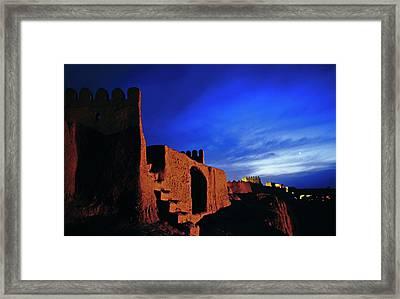 Dusk Over Bam Citadel Framed Print by Babak Tafreshi