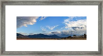 Framed Print featuring the photograph Dusk Over The Gallatin Range by Charles Kozierok