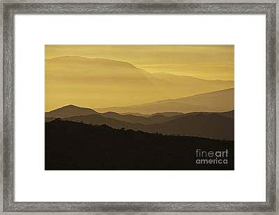 Dusk Over The Spanish Hills Of Andalusia Framed Print by Heiko Koehrer-Wagner