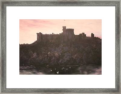 Framed Print featuring the painting Dusk Over Windsor Castle by Jean Walker