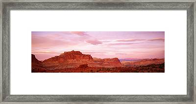 Dusk Panorama Point Capital Reef Framed Print by Panoramic Images