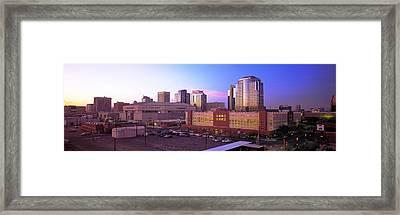 Dusk Phoenix Az Framed Print by Panoramic Images