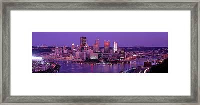 Dusk Pittsburgh Pa Usa Framed Print
