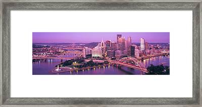 Dusk, Pittsburgh, Pennsylvania, Usa Framed Print