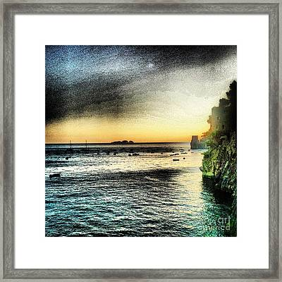 Dusk Settles In A Dream Framed Print by H Hoffman