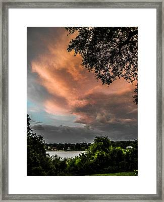 Dusk Storm  Framed Print by Christy Usilton
