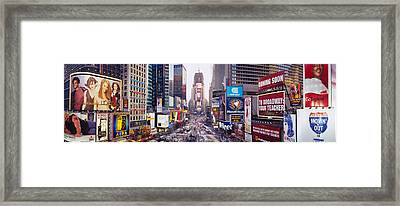 Dusk, Times Square, Nyc, New York City Framed Print