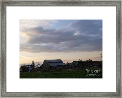 Framed Print featuring the photograph Dusk To Dawn by Bobbee Rickard