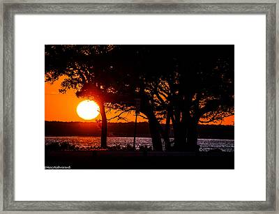 Dusky Cape Fear River  Framed Print