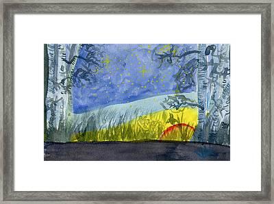 Dusky Scene Of Stars And Beans Framed Print