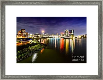 Dusseldorf Media Harbor Skyline Framed Print
