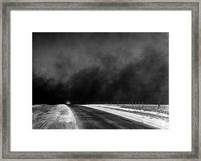 Dust Bowl In The Texas Panhandle 1936 Framed Print by Mountain Dreams