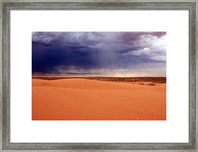 Dust Cloud In The Utah Desert Framed Print by Johnny Adolphson
