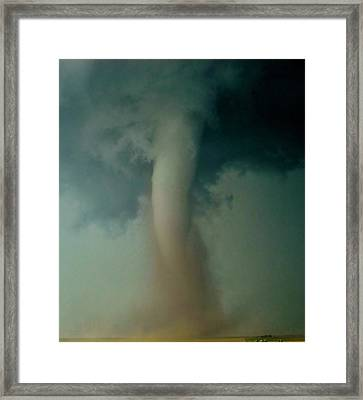 Framed Print featuring the photograph Dust Eating Tornado by Ed Sweeney