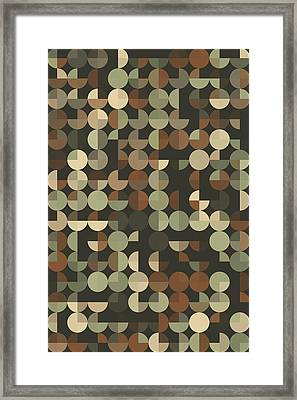 Dust Geometric Circle Pie Vertical Pattern Framed Print