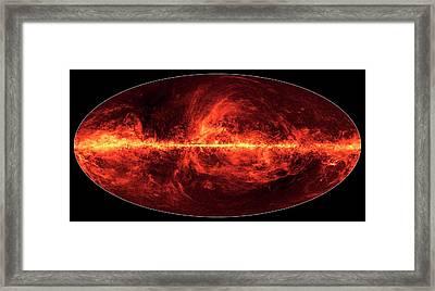 Dust In The Milky Way Framed Print by Esa/nasa/jpl-caltech