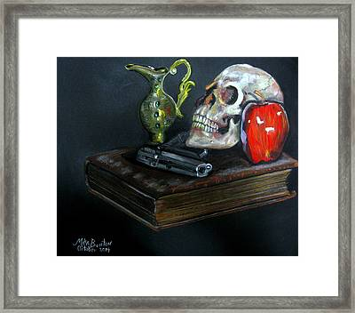 Dust On The Bible Framed Print by Mike Benton