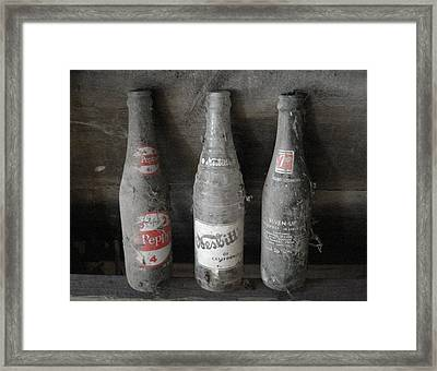 Dust On The Bottles Framed Print