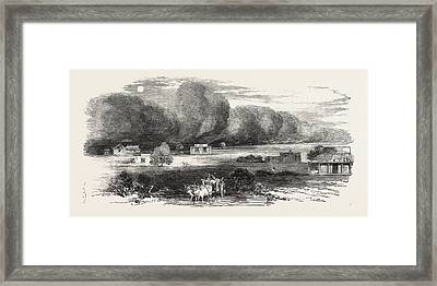 Dust Storm In The Punjab Framed Print by English School