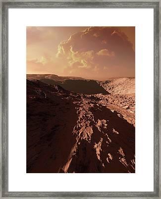 Dust Storm On Mars Framed Print by Detlev Van Ravenswaay