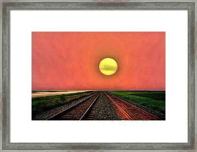 Dustbowl Sunset Framed Print