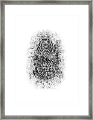 Dusted Fingerprint Framed Print