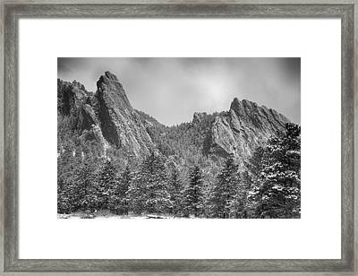 Dusted Flatiron In Black And White  Framed Print by James BO  Insogna
