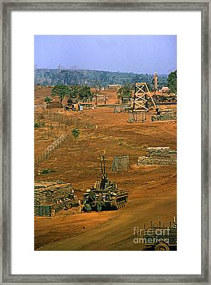 Duster Of 4/60th Artillery At  Lz Oasis Vietnam 1969 Framed Print by California Views Mr Pat Hathaway Archives