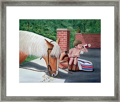Dustin And Koti Framed Print
