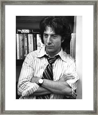 Dustin Hoffman In All The President's Men  Framed Print by Silver Screen