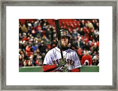 Dustin Pedroia Framed Print by SoxyGal Photography