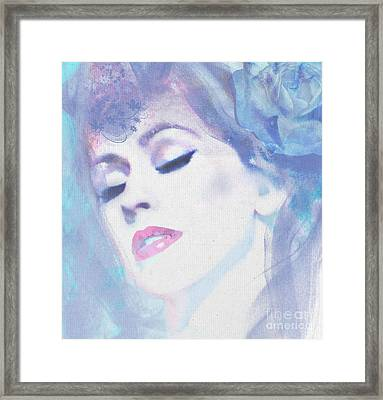 Dusty Blues Framed Print by Kim Prowse