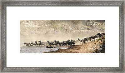 Framed Print featuring the photograph Dusty Crossing by Liz Leyden