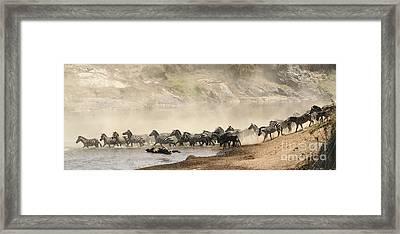 Dusty Crossing Framed Print