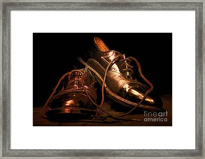 Dusty Dancing Shoes Framed Print by Phill Petrovic