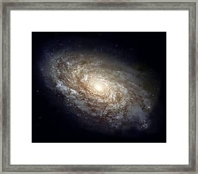 Dusty Spiral Galaxy Framed Print by Celestial Images