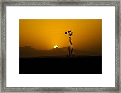 Dusty Sunset Framed Print