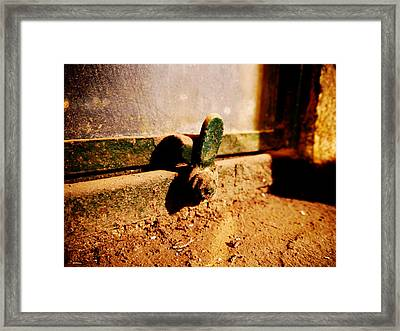 Dusty Window Framed Print by Richard Reeve
