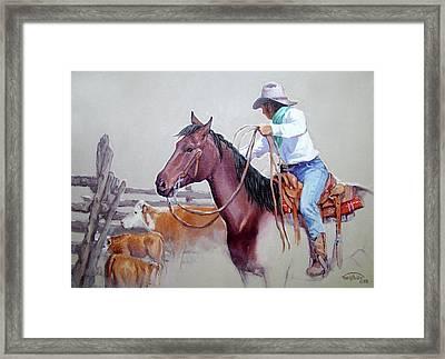 Dusty Work Framed Print by Randy Follis