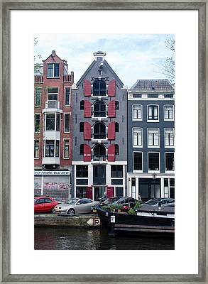 Dutch Canal House Framed Print